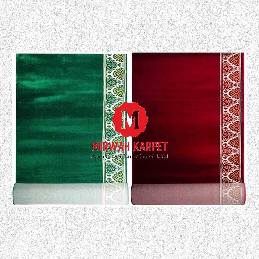 karpet masjid grad d kelas 2 merah hijau