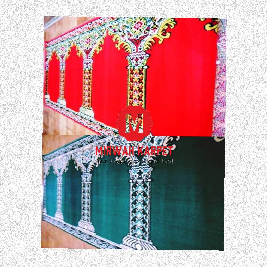 karpet masjid grad standar hijau merah