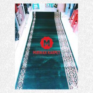 Karpet Mecca hijau polos