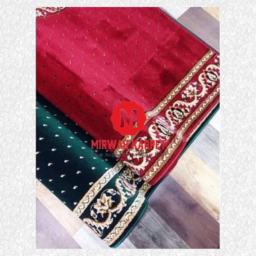 karpet masjid grad c kelas 2 hijau merah