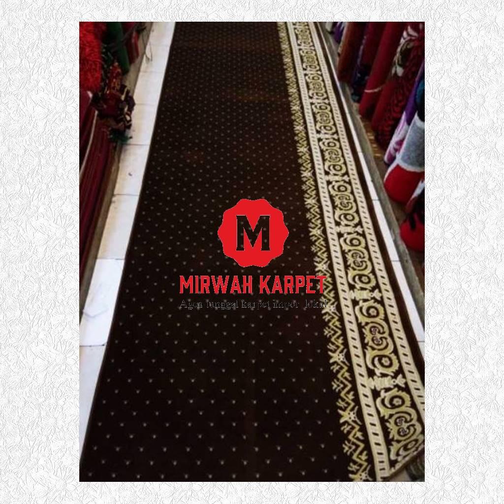 karpet masjid grad a coklat