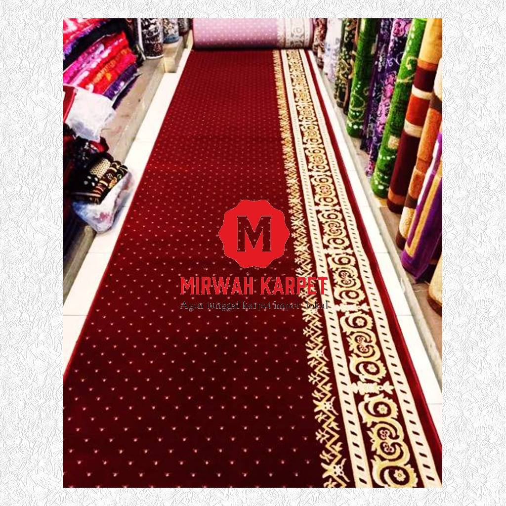 karpet masjid grad a merah