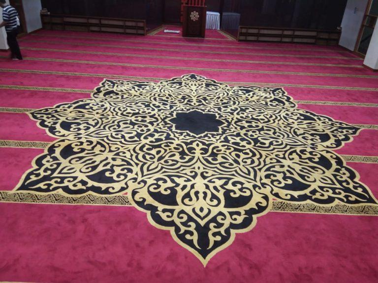 karpet masjid homemade woll