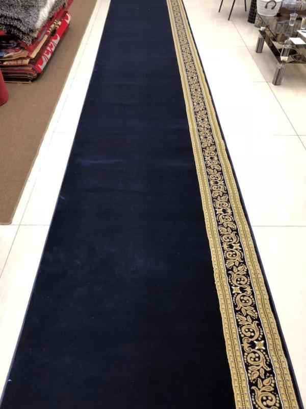 karpet masjid turki royal tebriz biru