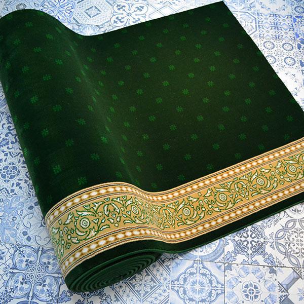 Karpet Masjid Soft Yaren Hijau Bintik2