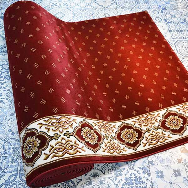 Karpet Masjid Soft Yaren Merah Bintik1