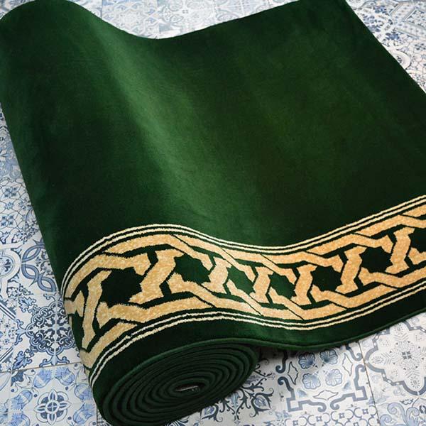 Karpet masjid Turki Super Hilal Hijau
