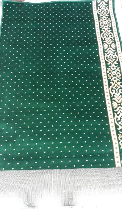 karpet masjid al mira hijau motif bintik
