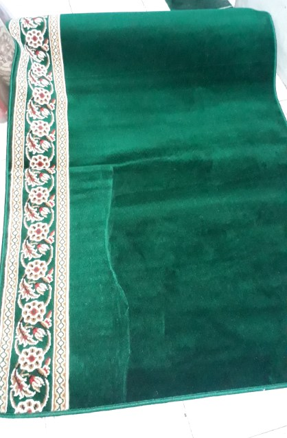 karpet masjid al mira hijau polos