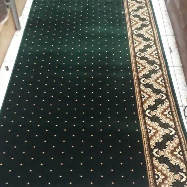 karpet masjid al namaz hijau