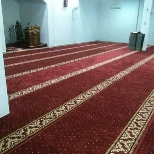 karpet masjid al namaz merah