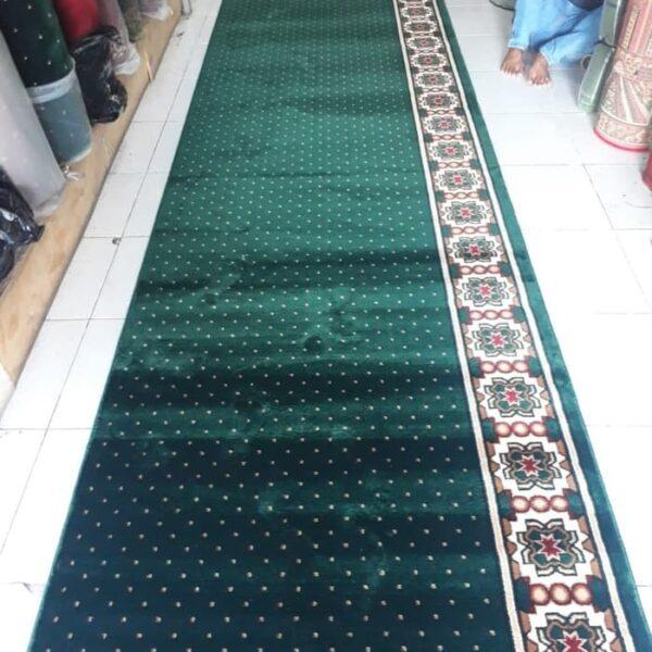 karpet masjid mecca hijau
