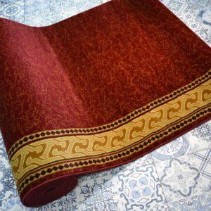 karpet masjid sultan merah motif kuning