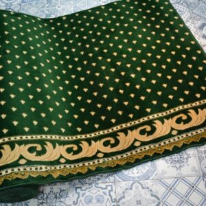 karpet masjid yafuz hijau motif bintik