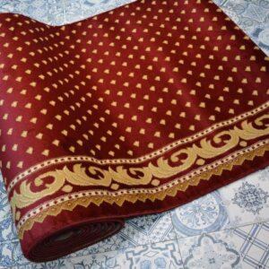 karpet masjid yafuz merah motif bintik4
