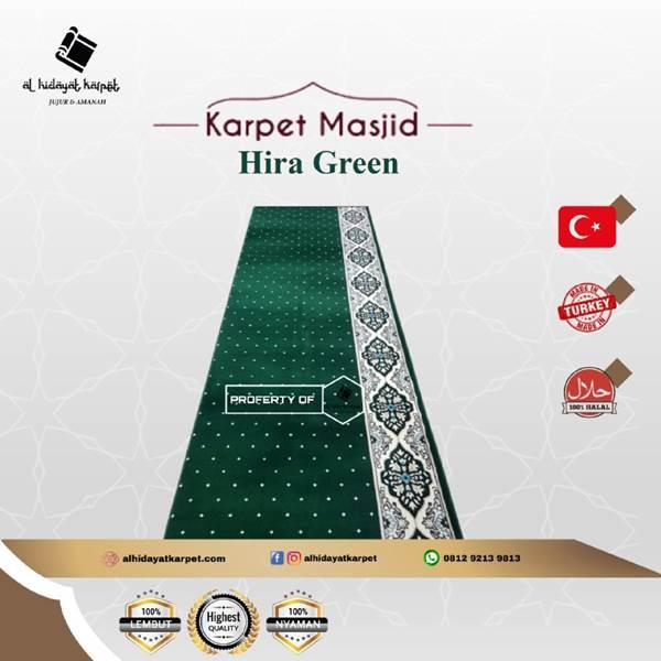Karpet Masjid Hira Hijau