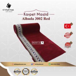 Karpet masjid Al Huda merah