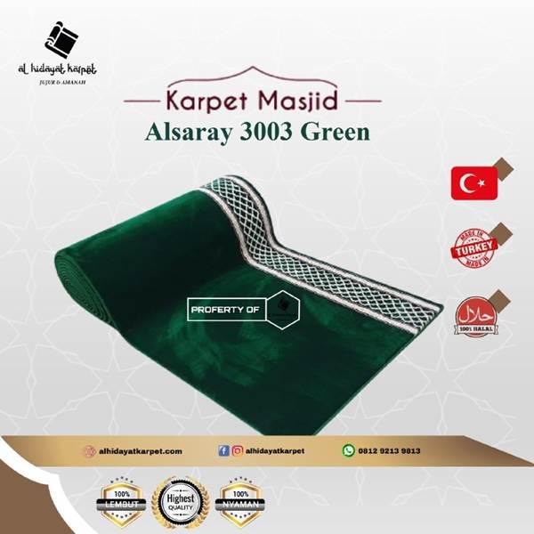 Karpet masjid Al Saray Hijau Polos