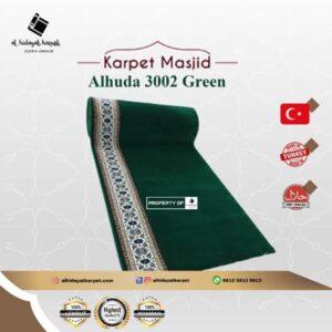 karpet masjid al huda hijau