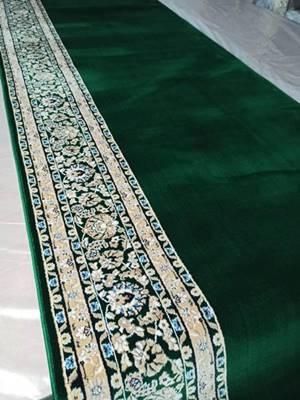 Karpet Masjid Isfahan Hereke Hijau